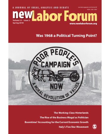 New Labor Forum Volume 27 Issue 2, Summer 2018 cover