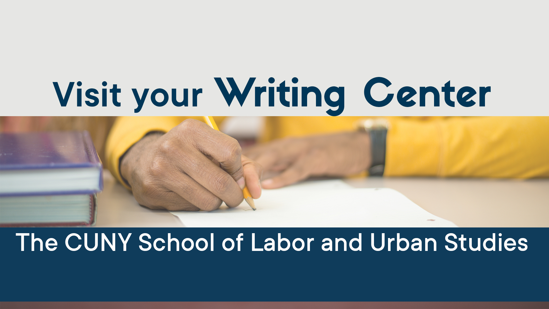 Visit the Writing Center now located on the 18th floor