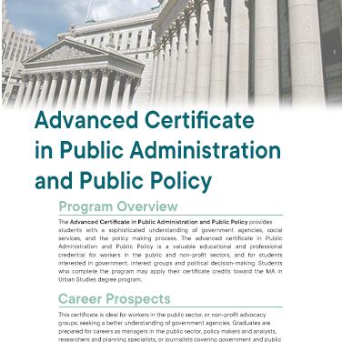 Adv Cert Public Admin