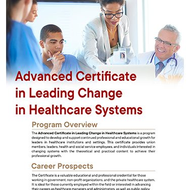 Adv Cert in Healthcare Leadership and Advocacy