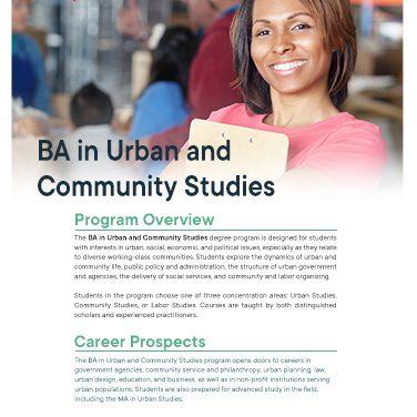 BA Urban Studies